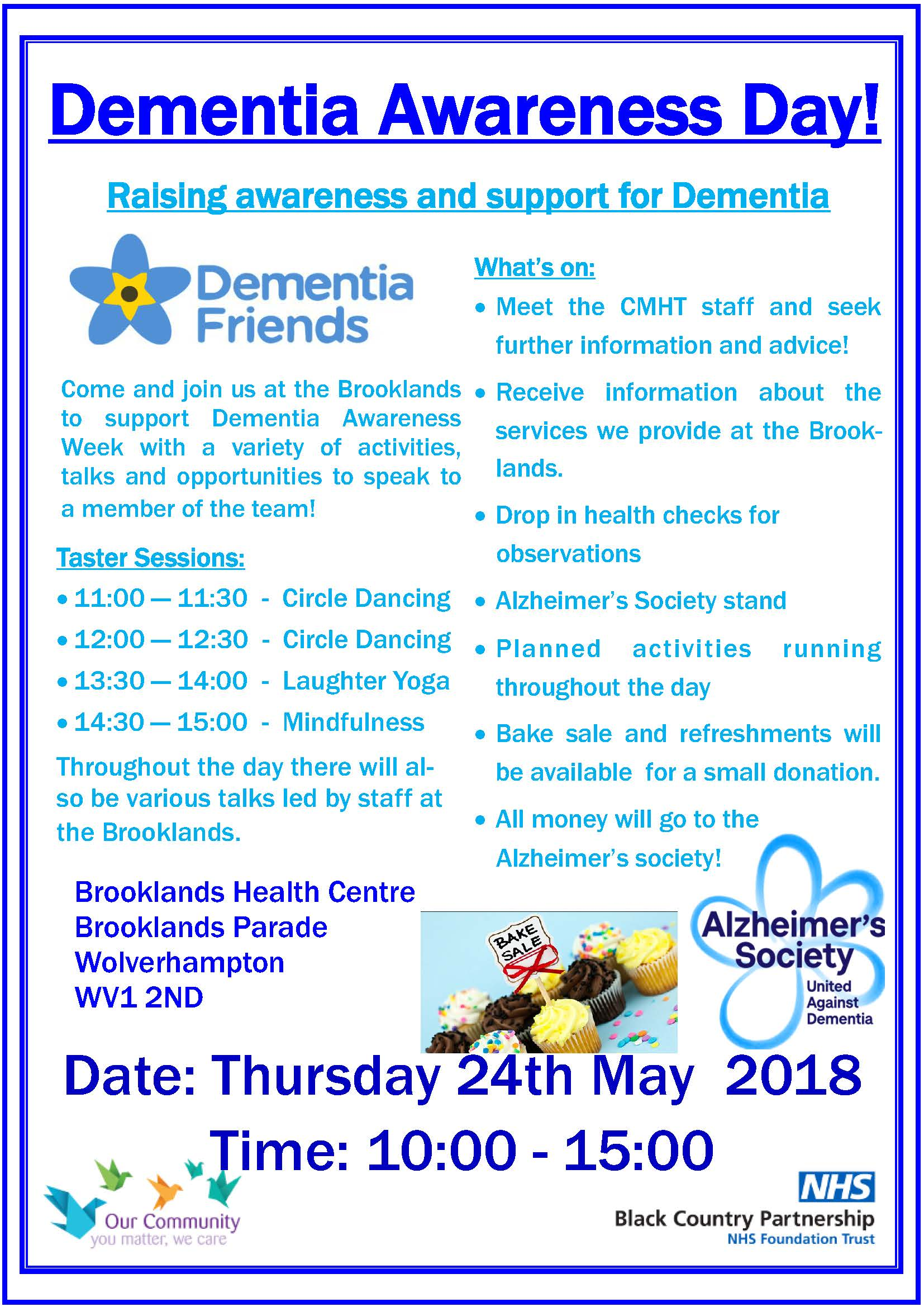 Dementia Day Leaflet Booklands