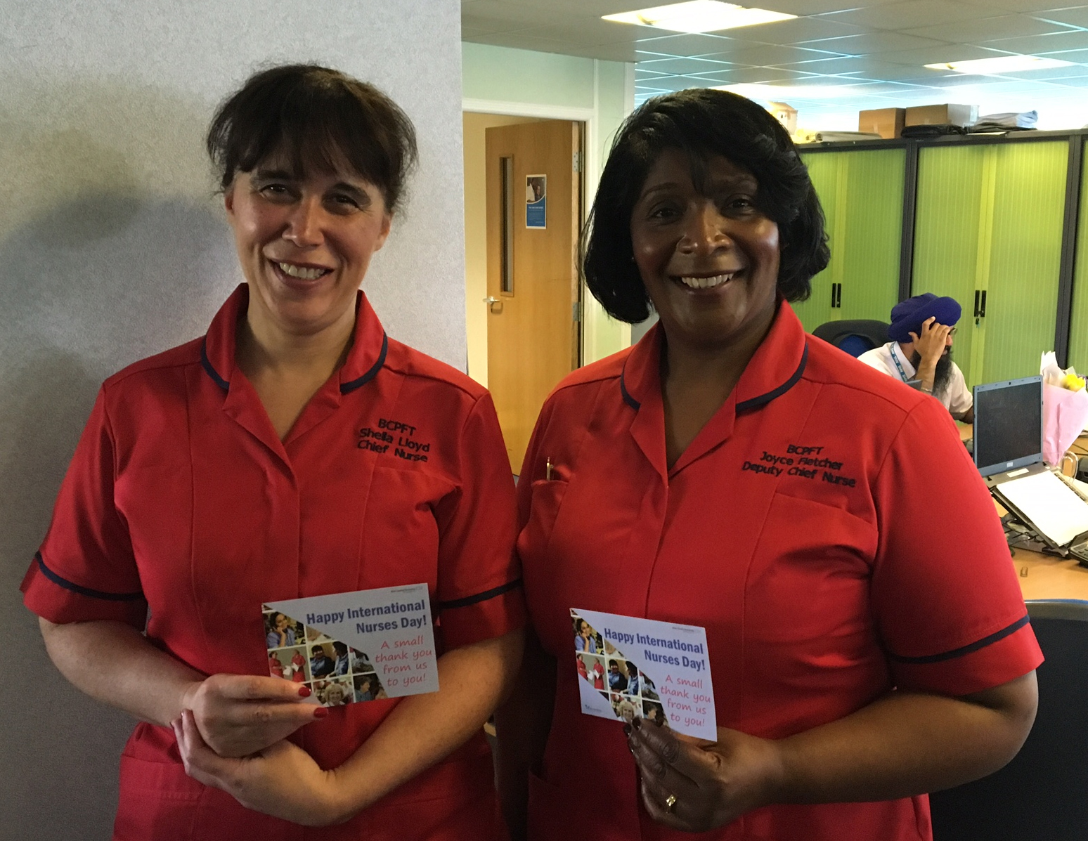 Sheila (left) and Joyce celebrating International Nurses Day 2016.