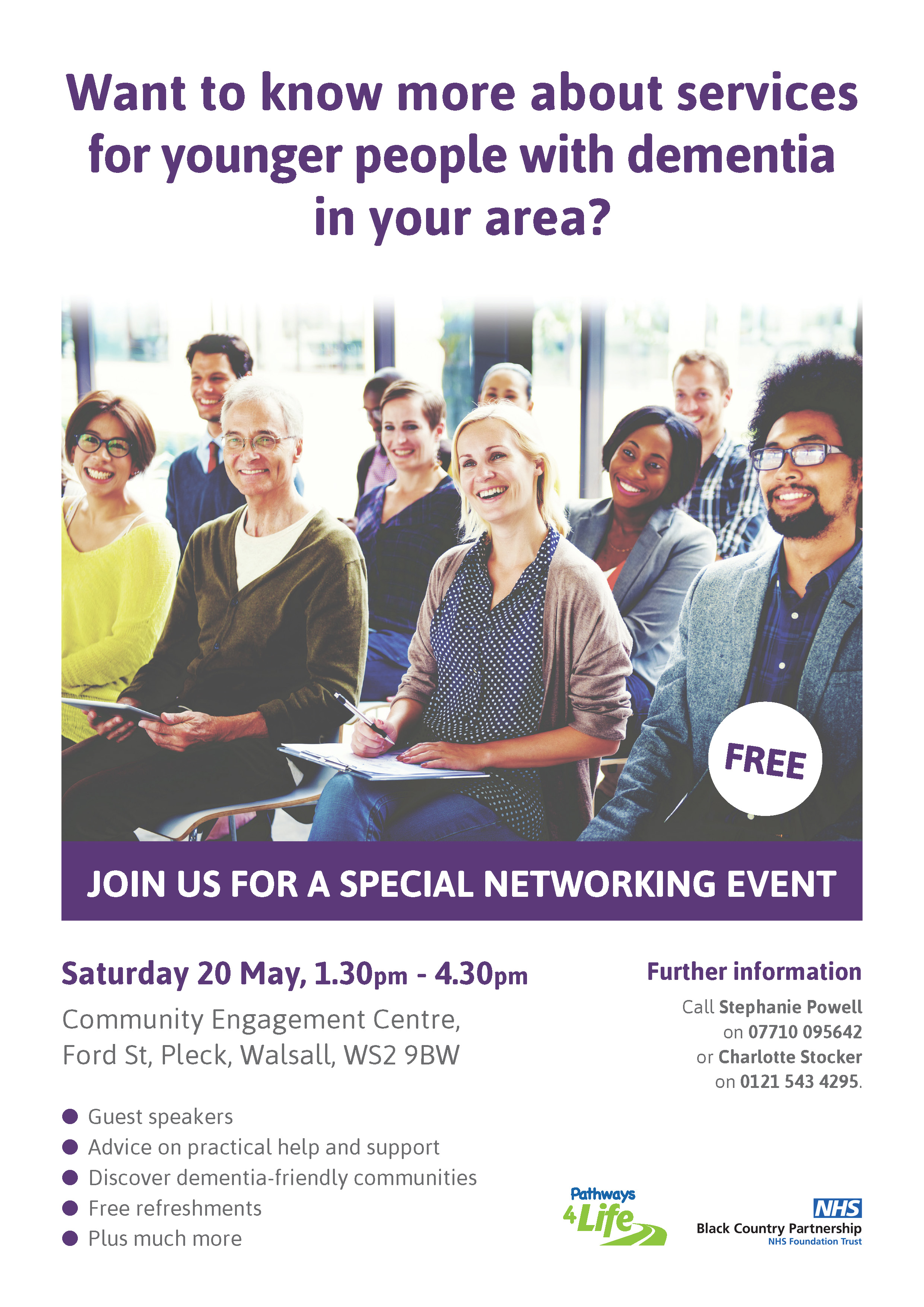 dementia networking poster